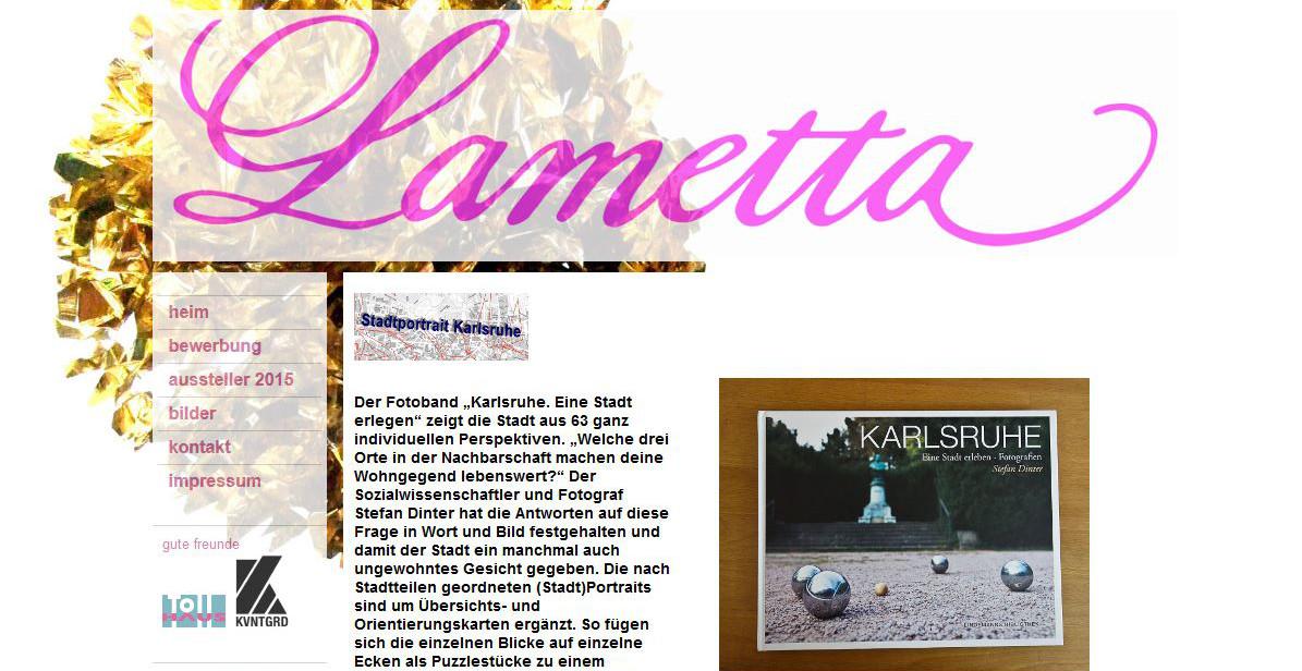 Lametta und Stadtportrait Karlsruhe