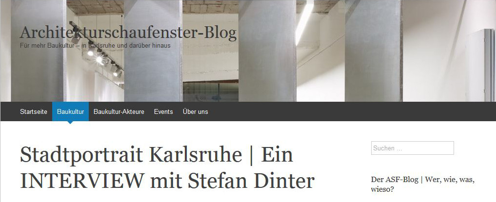 Architekturschaufenster Interview