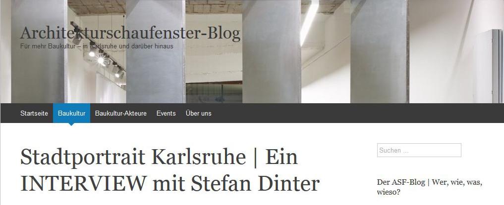 Architekturschaufenster Interview